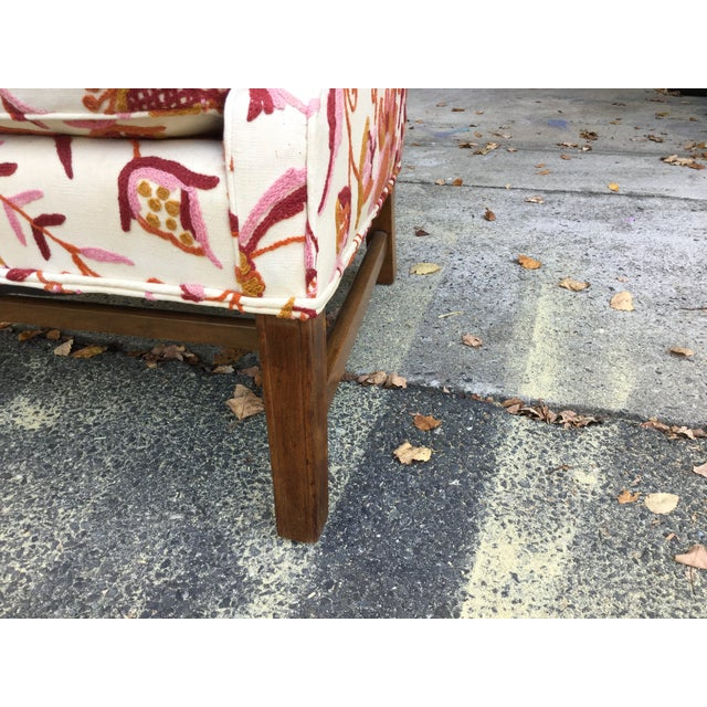 Vintage English Armchair W/Crewel For Sale In New York - Image 6 of 10