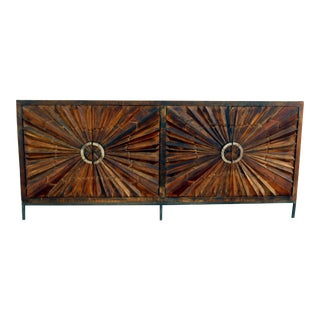 Brown Lyra Wooden Sideboard For Sale