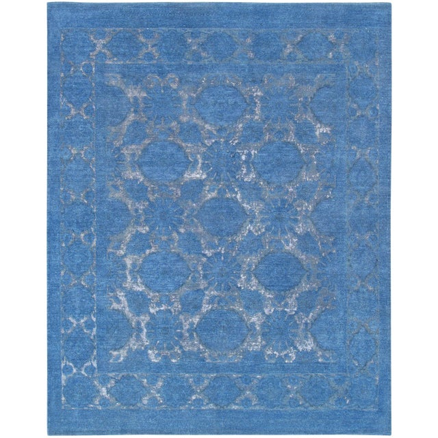 """Pasargad Overdye Wool Area Rug - 7'8"""" X 9'8"""" For Sale"""
