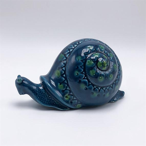 Blue ceramic snail, c. 1960