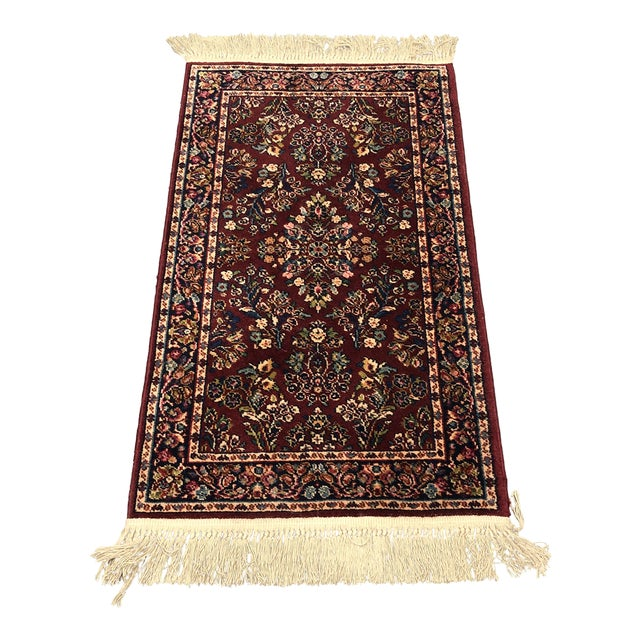 2ft6in × 5ft2in Karastan Red Sarouk Area Rug For Sale