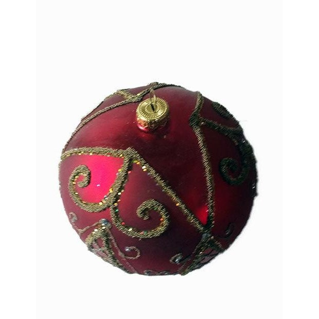 Red and Gold Hand Made Polish Tree Ornament - Image 3 of 6