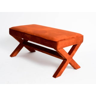 """1970s Vintage Billy Baldwin Style Long """"X"""" Bench Preview"""