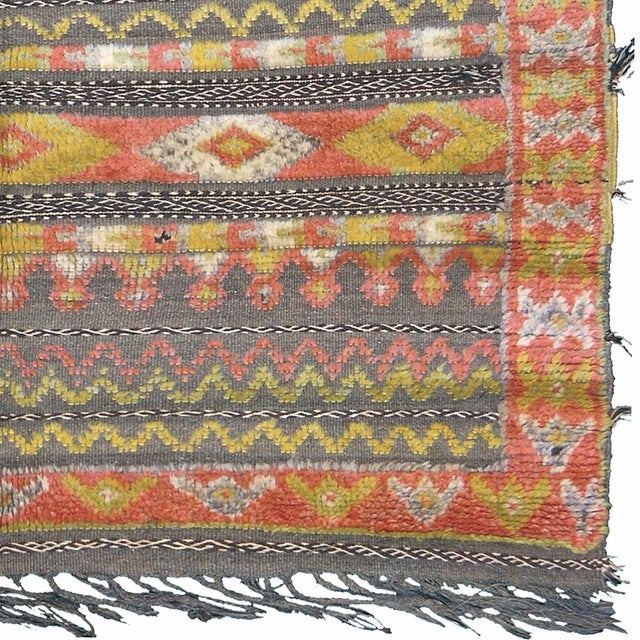 """FJ Hakimian Mid 20th Century Moroccan Berber Rug - 4'5"""" X 5'11"""" For Sale - Image 4 of 5"""