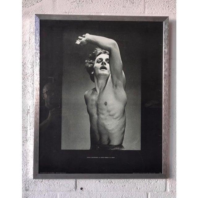 Vintage Mikhail Baryshnikov: Le Jeune Homme Et La Mort Framed Poster. For Sale - Image 11 of 11