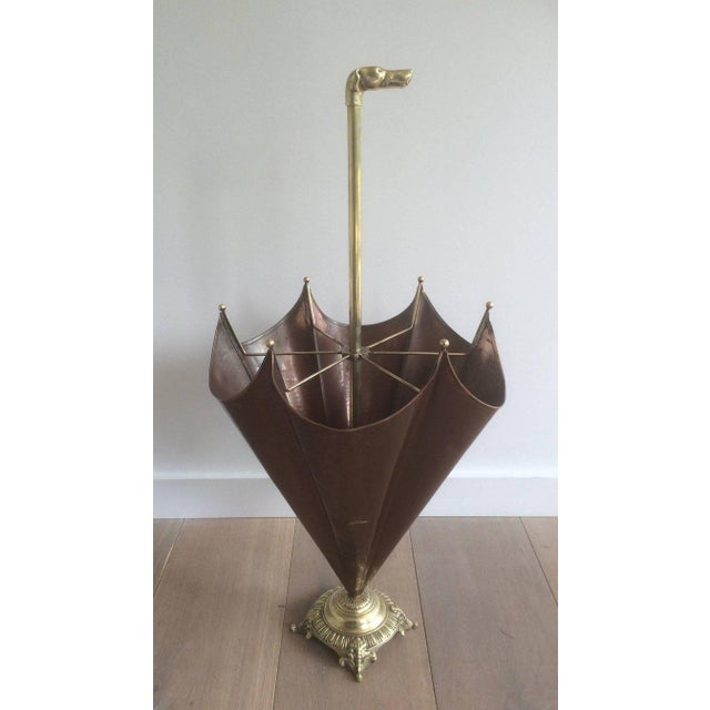 1940s, French Brass Umbrella Stand - Image 2 of 11