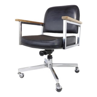 Ed Pauly Mid-Century Modern Office Rolling Arm Chair