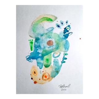 """""""Miami Dancing"""" Original Watercolor Painting For Sale"""