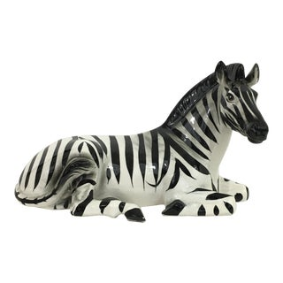 Zebra Ceramic Figure Statue For Sale