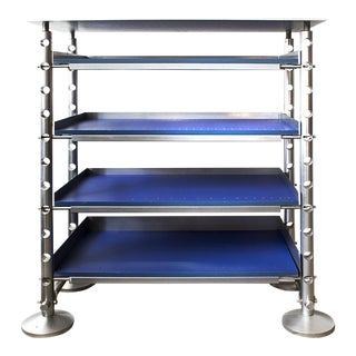Retro Futurism Aluminium Display Shelf For Sale