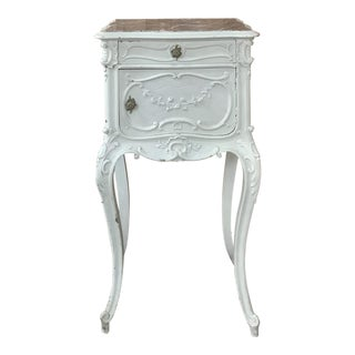 19th Century French Louis XV Painted Nightstand For Sale