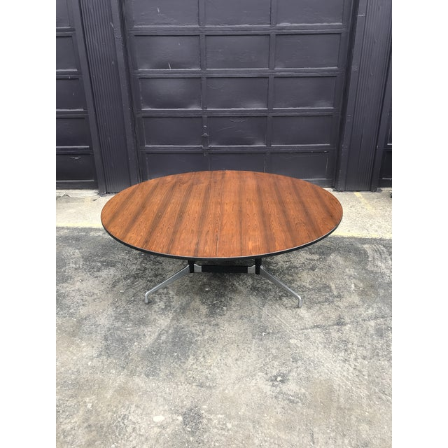 """78""""d Eames Herman Miller Rosewood Conference Table For Sale - Image 9 of 12"""