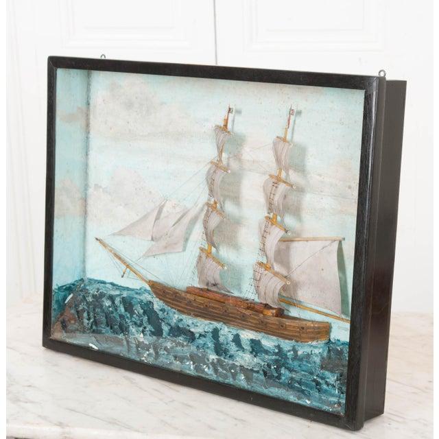 19th Century English Nautical Diorama For Sale - Image 4 of 7