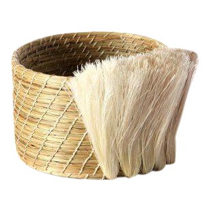 Fanned Out Mini Planter Natural & Flax Fan For Sale