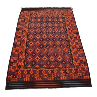 Contemporary Handwoven Afghan Tribal Kilim - 9′3″ × 14′2″ For Sale