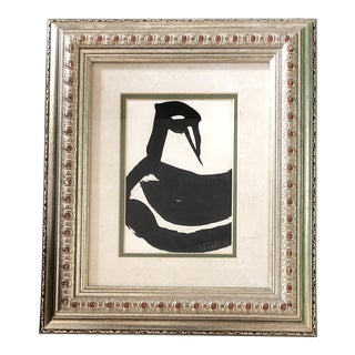 Original Vintage Robert Cooke Abstract Duck Painting For Sale