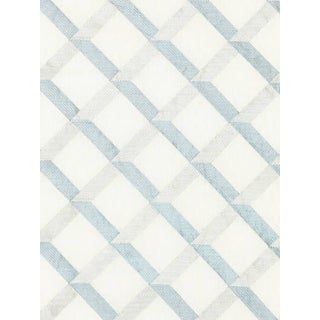 Sample, Scalamandre Lattice Embroidery, Water For Sale