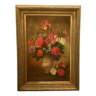 20th Century Framed Floral Still Life by Ira Sapir For Sale