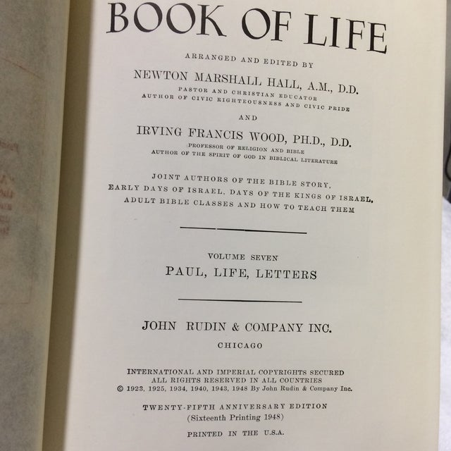 C. 1948 The Book of Life - Set of 4 For Sale In Los Angeles - Image 6 of 6