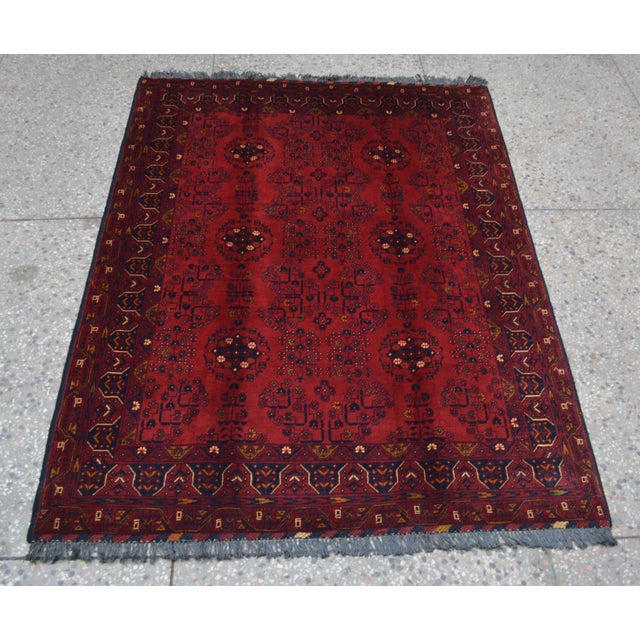 Afghan Tribal Red Rug For Sale - Image 9 of 9