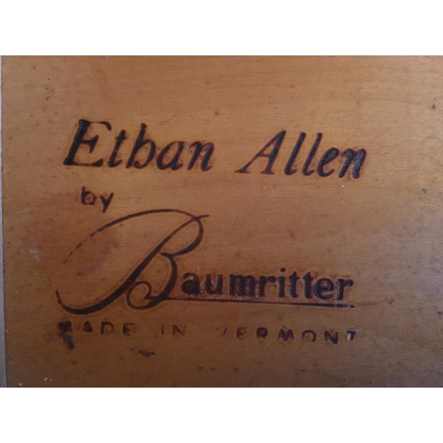 1950s Mid Century Modern Ethan Allen Baumritter Maple Wood Night Table For Sale - Image 10 of 11