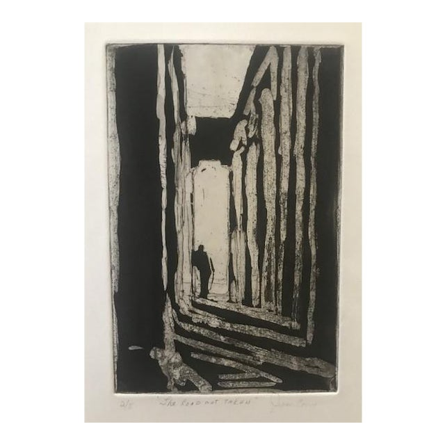 20th Century Original Signed Letterpress Print on Archival Paper by Joan Corrigan For Sale