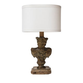 Tole Repousse Table Lamp For Sale