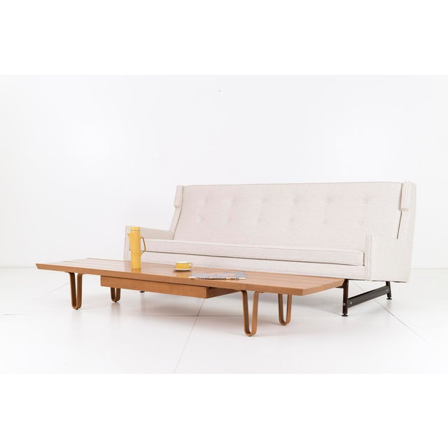 Metal Modern Wing Back Sofa by Kasparian Brothers For Sale - Image 7 of 10