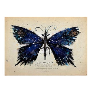 Polish Blue Butterfly Poster