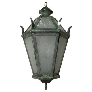 Hanging Solid Brass Lantern For Sale