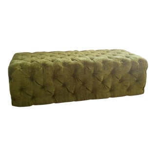 Green Tufted Velvet Ottoman/Coffee Table