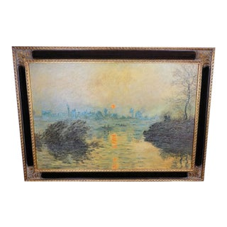 Claude Monet Sunset at Lavacourt Museum Shop Brushstrokes Collection Print For Sale