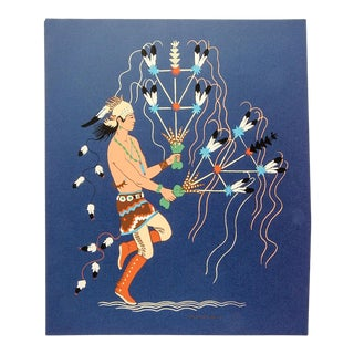 Harrison Begay Navajo Feather Dancer Serigraph For Sale