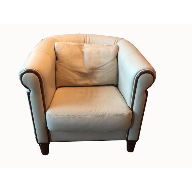 Cream Italian Art Deco Style Club Chair For Sale - Image 8 of 8