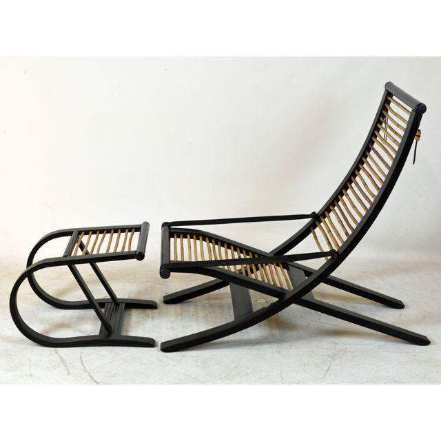 Contemporary David Colwell C1 Reclining Lounge Chair and Foot Stool For Sale - Image 3 of 11