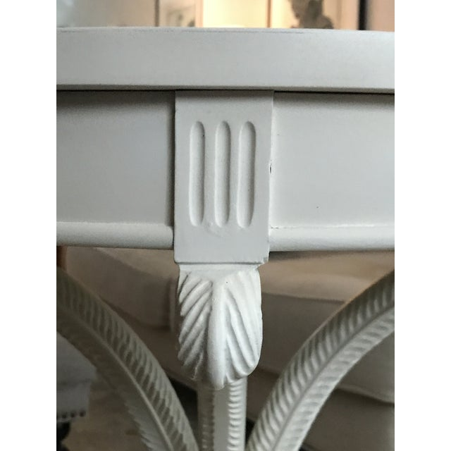 Painted White Bistro Side Table - Image 5 of 6