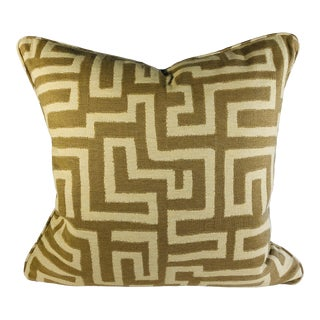 Tribal A Natural Maze Pillow For Sale