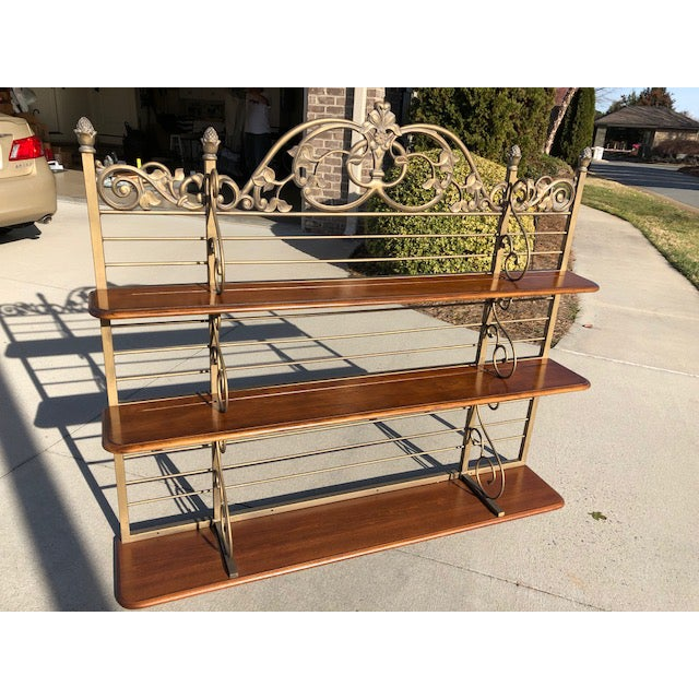 Iron & Wood Baker's Wall Rack/Shelf - Image 2 of 7