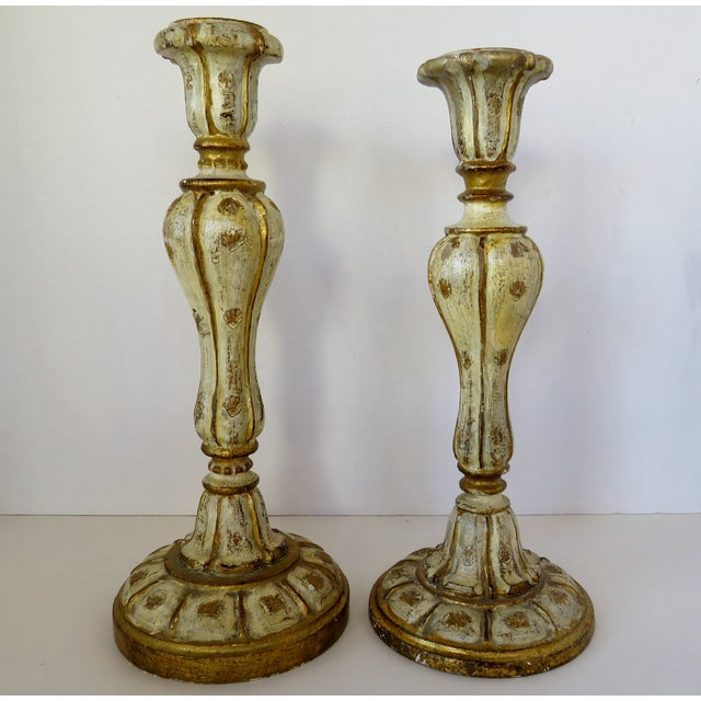 Florentine Candlesticks, Set of 2 For Sale In Los Angeles - Image 6 of 6