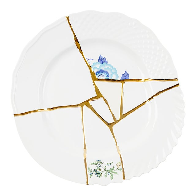 Seletti, Kintsugi Dinner Plate 3, Marcantonio, 2018 For Sale