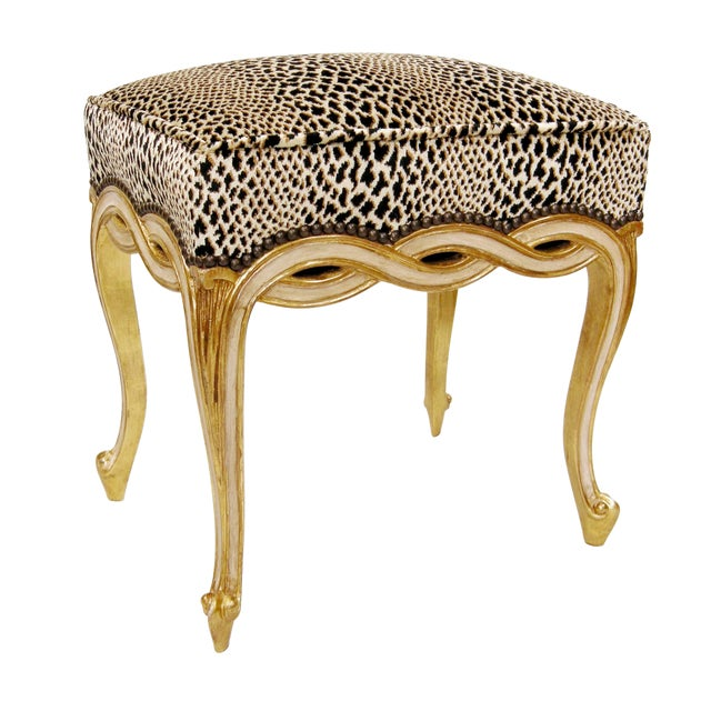 Regency Style Designer Taboret Bench by Randy Esada Designs For Sale