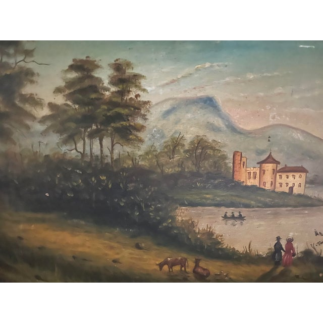 Antique Oil Painting of Landscape For Sale In New York - Image 6 of 13