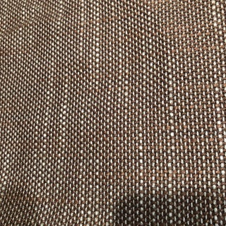 Andrew Martin Brown and Aqua Blue Linen Fabric - 2.18 Yards For Sale