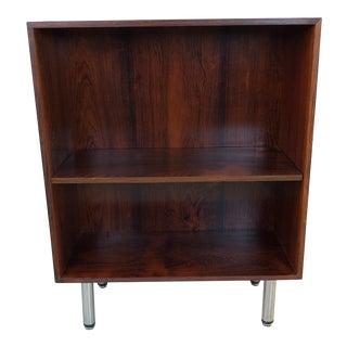 Mid-Century Modern Danish Rosewood Bookcase W/ Chrome Legs