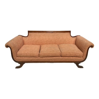 1940s Vintage Empire Style Sofa For Sale