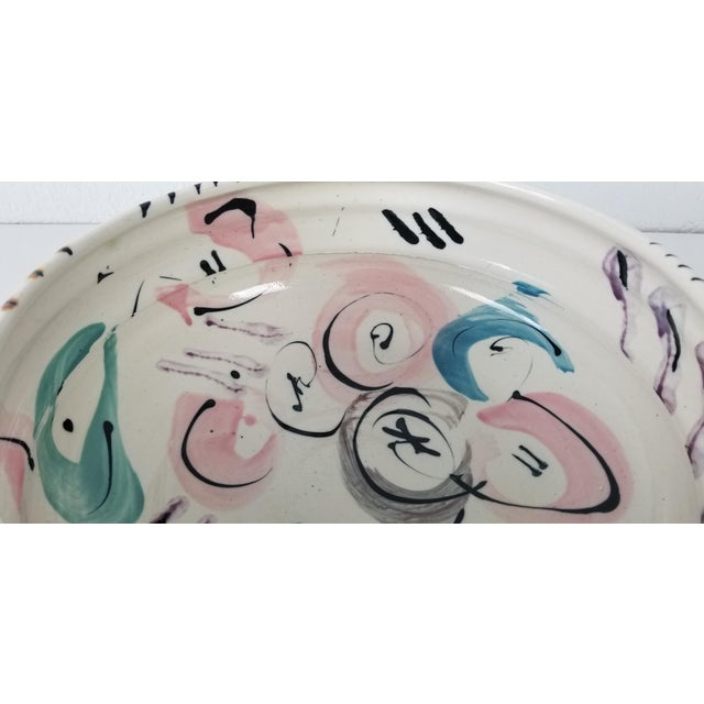 1988 Vintage Hand Painted Ceramic Bowl For Sale - Image 4 of 8