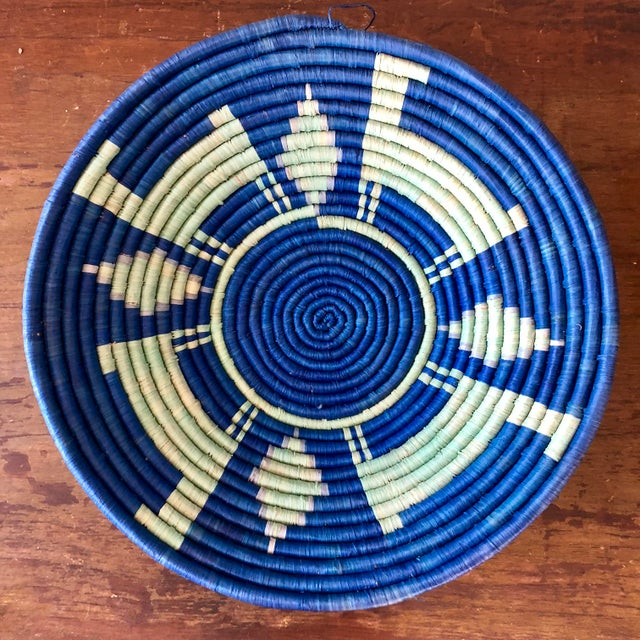 Vintage Tribal Seagrass Coiled Basket For Sale - Image 4 of 4