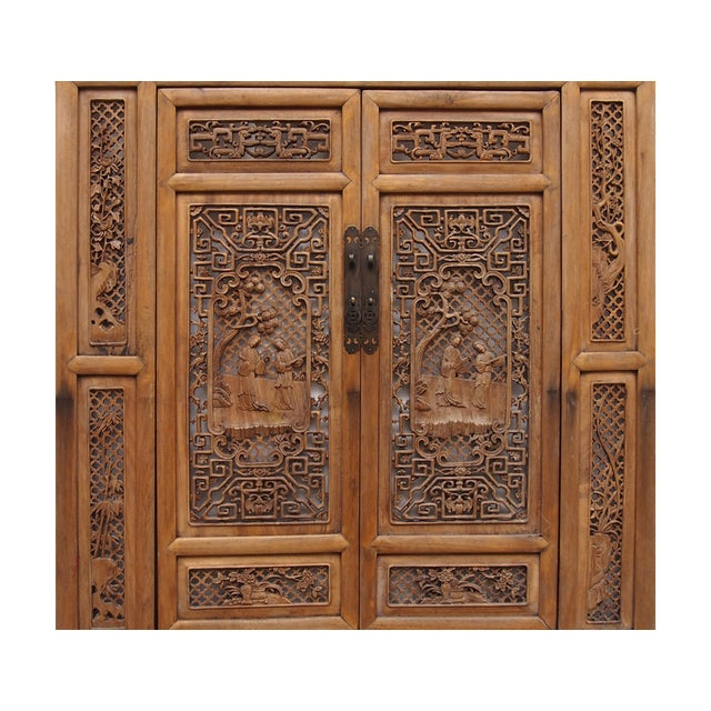 Vintage Carved Wood Asian Wall Panel/Screen - Image 4 of 6