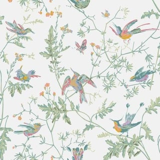 Cole & Son Hummingbirds Wallpaper Roll - Pastel For Sale