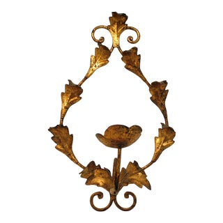 Vintage Italian Gilt Wall Sconce For Sale
